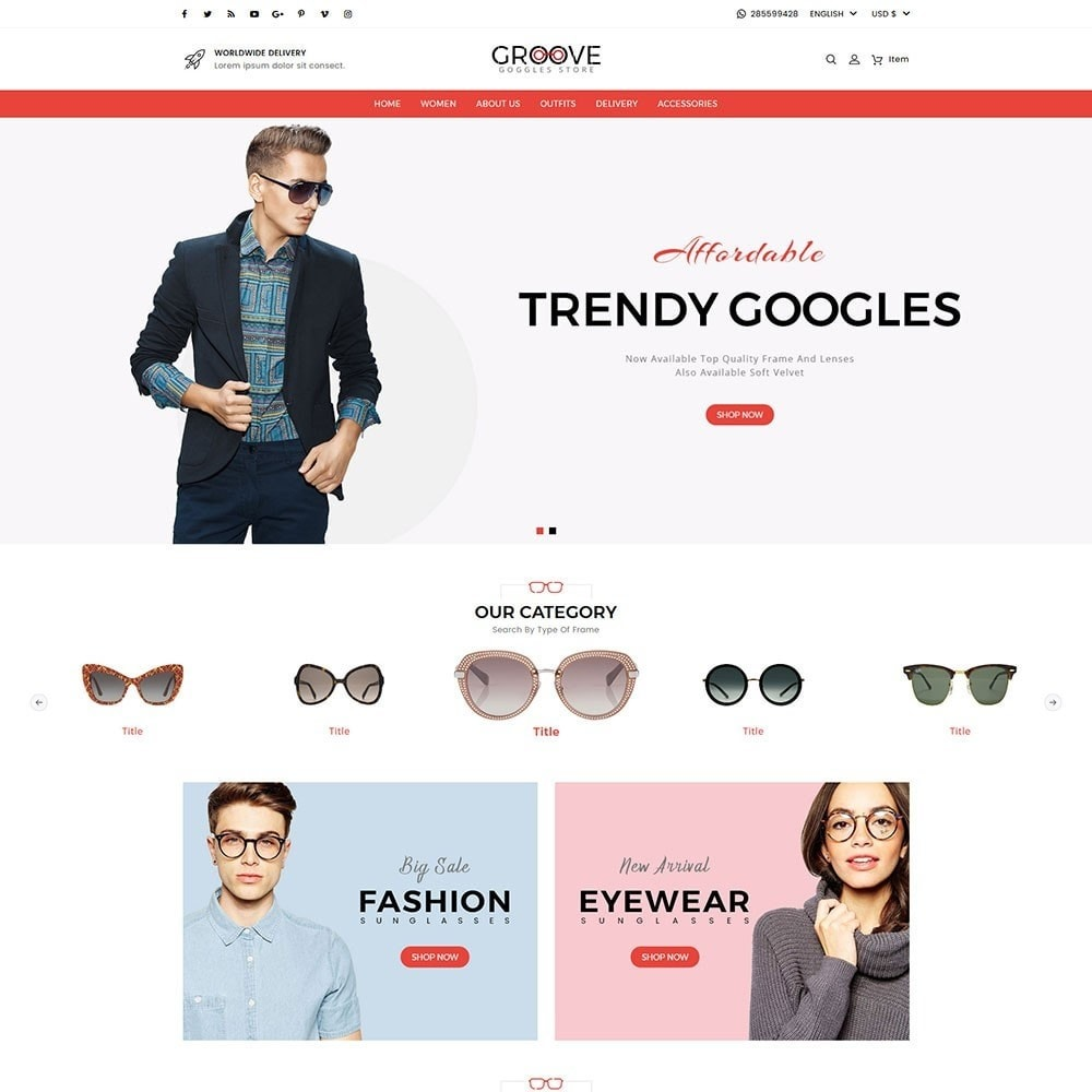 theme - Jewelry & Accessories - Groove Goggles Store - 2