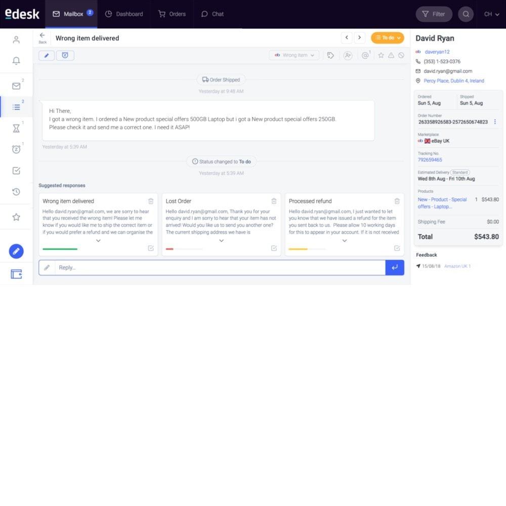 module - Customer Service - eDesk by xSellco - 2