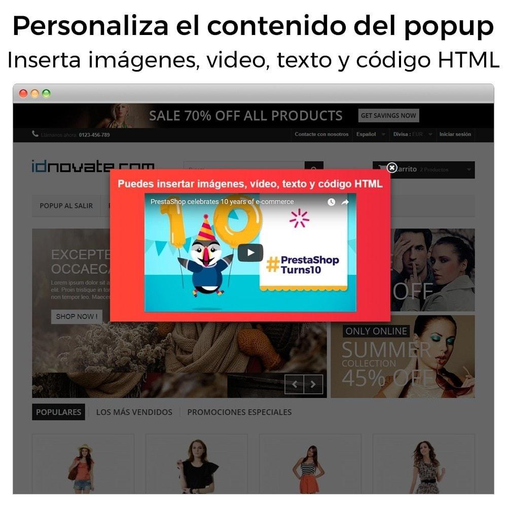 module - Pop-up - Popup al entrar, salir, añadir producto y newsletter - 2