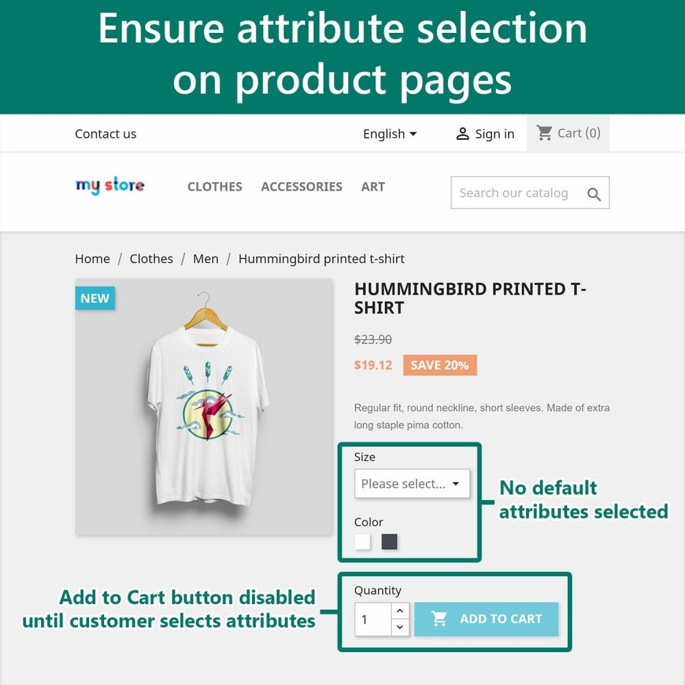 module - Combinations & Product Customization - Require Attribute Selection - 2