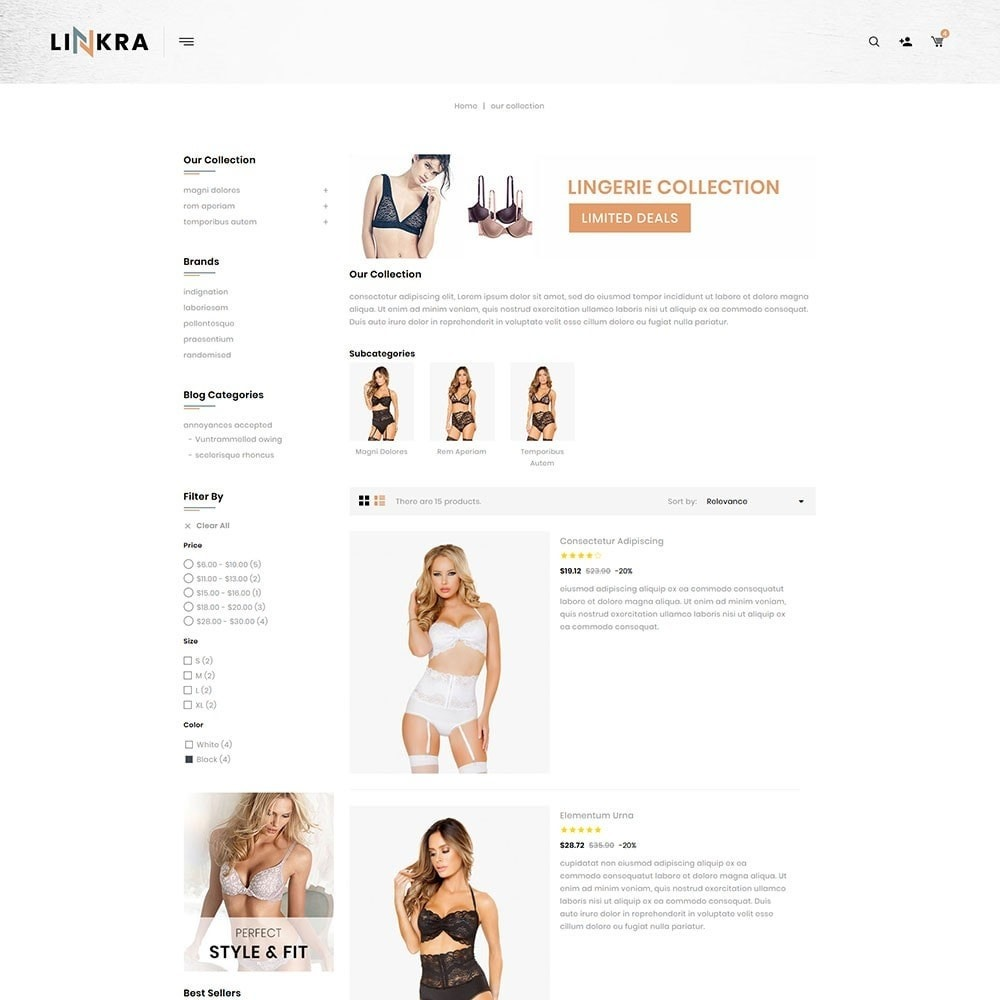 theme - Lingerie & Adultos - Linkra - The Ladies Inner Wear Shop - 5
