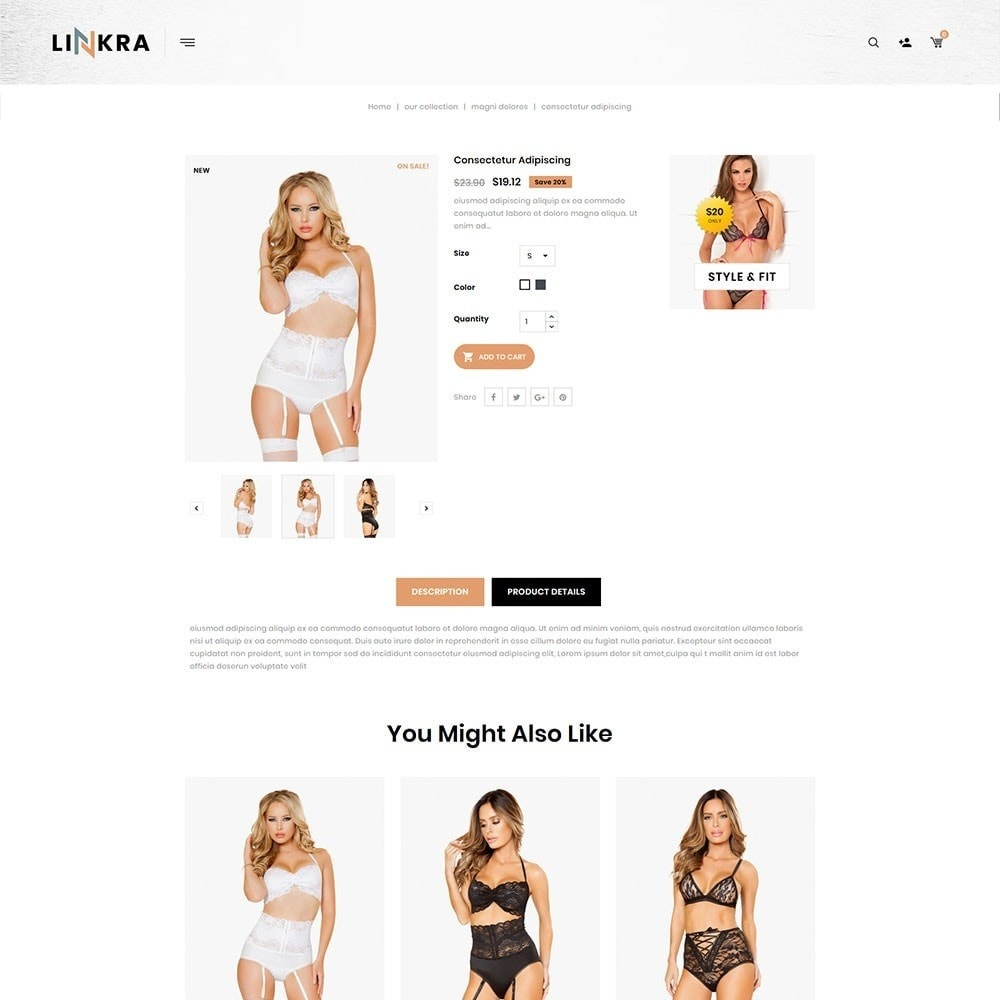theme - Lingerie & Adultos - Linkra - The Ladies Inner Wear Shop - 6
