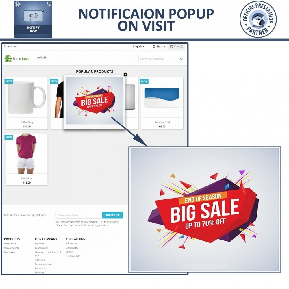 module - Dialoogvensters & Pop-ups - Popup Promo and Notification - 3