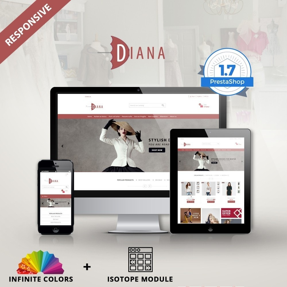 theme - Mode & Chaussures - Diana - Fashion premium multipurpose - 1