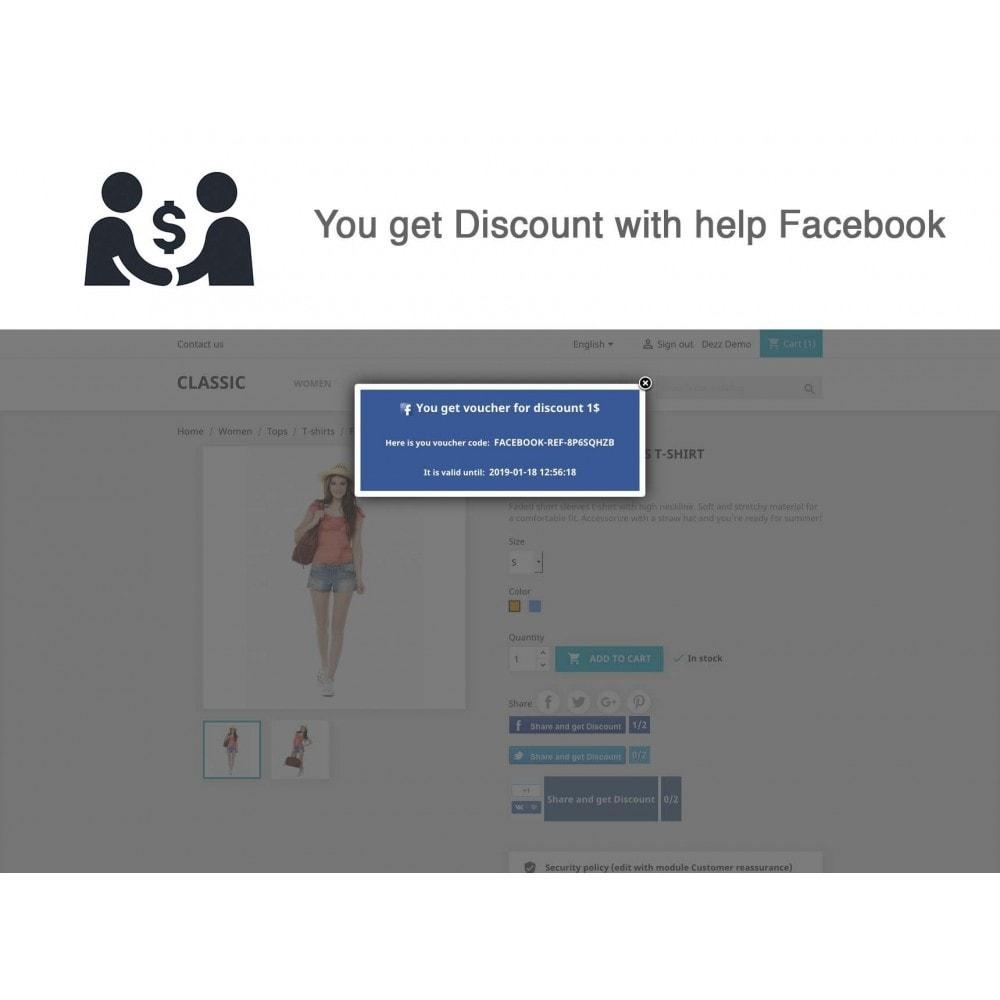 module - Cupons de desconto de redes sociais - Social Referrals (3 in 1) - 10