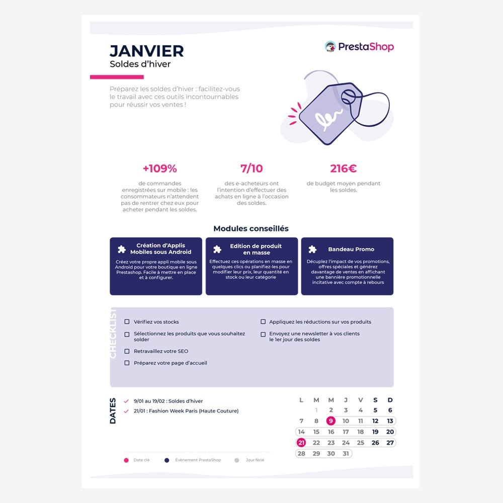 other - eCommerce Kalender - France 2019 eCommerce Calendar - 2
