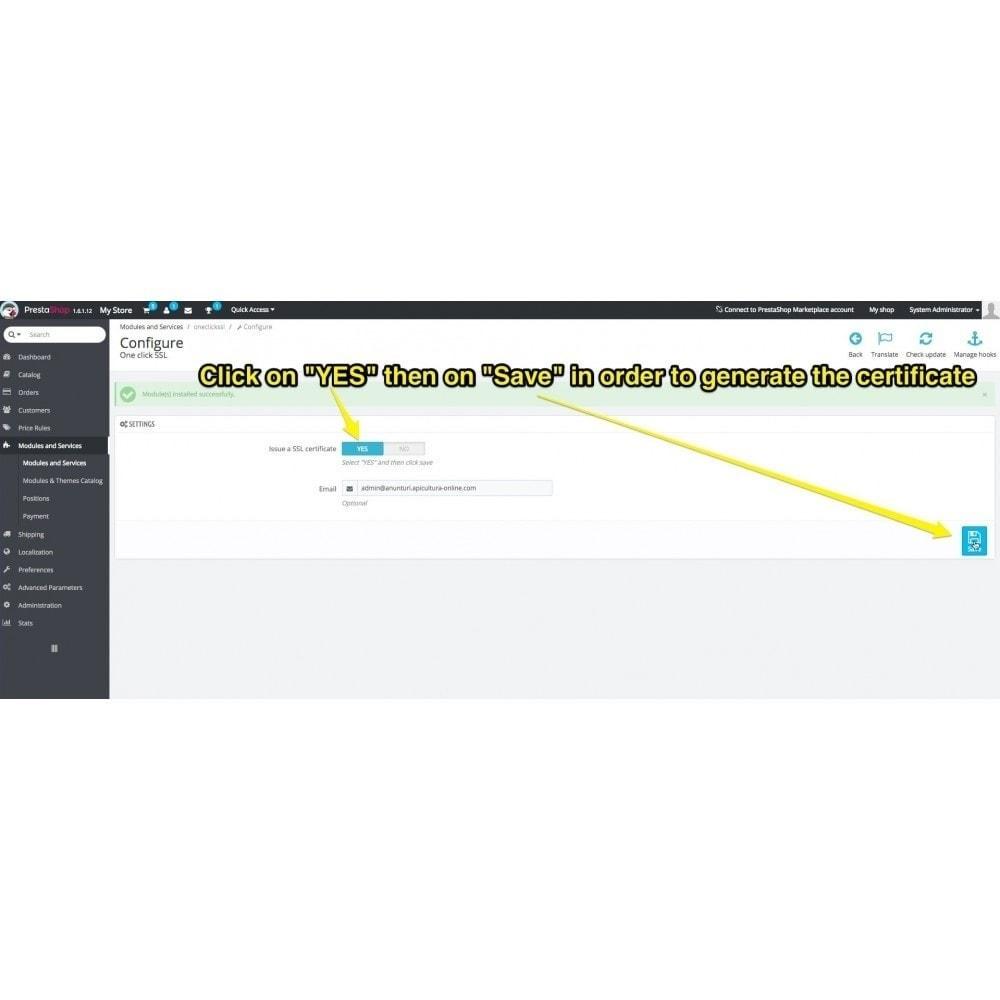 module - Sécurité & Accès - One Click SSL Let's Encrypt - 3