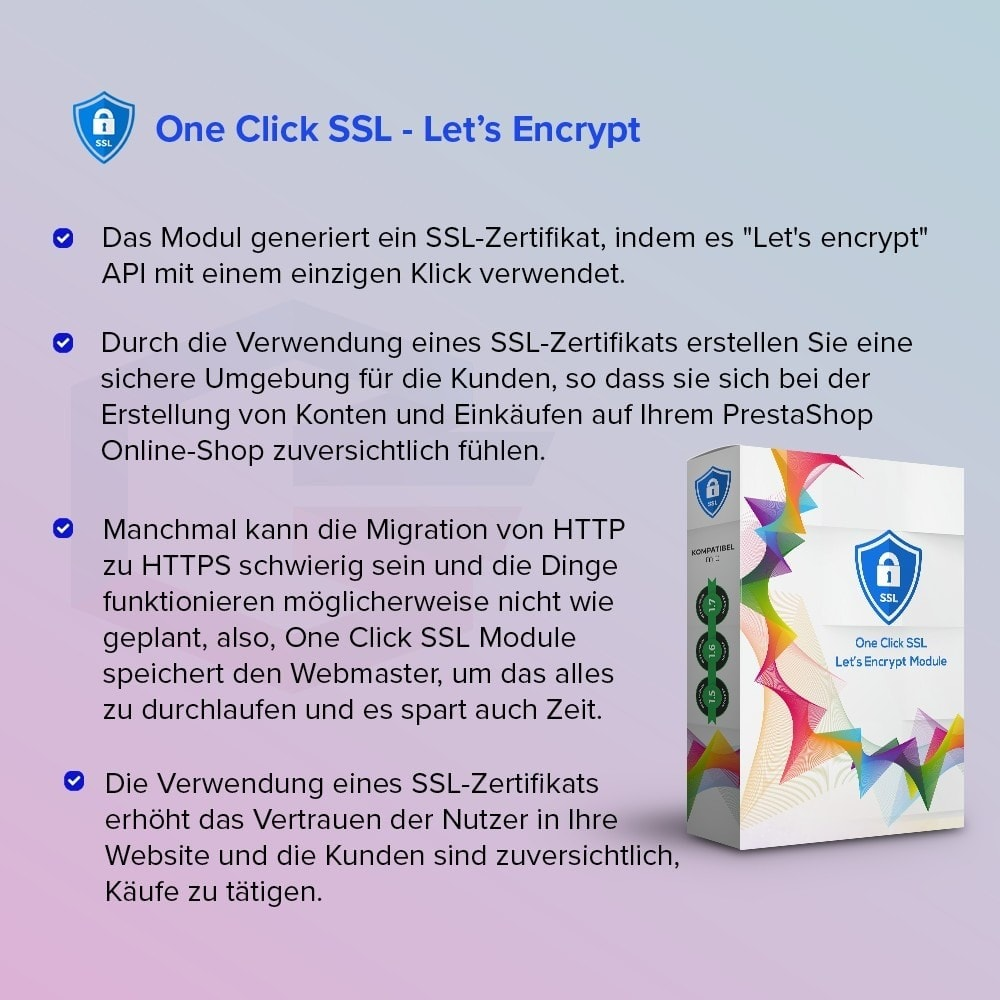 module - Sicherheit & Brechtigungen - One Click SSL Let's Encrypt - 1