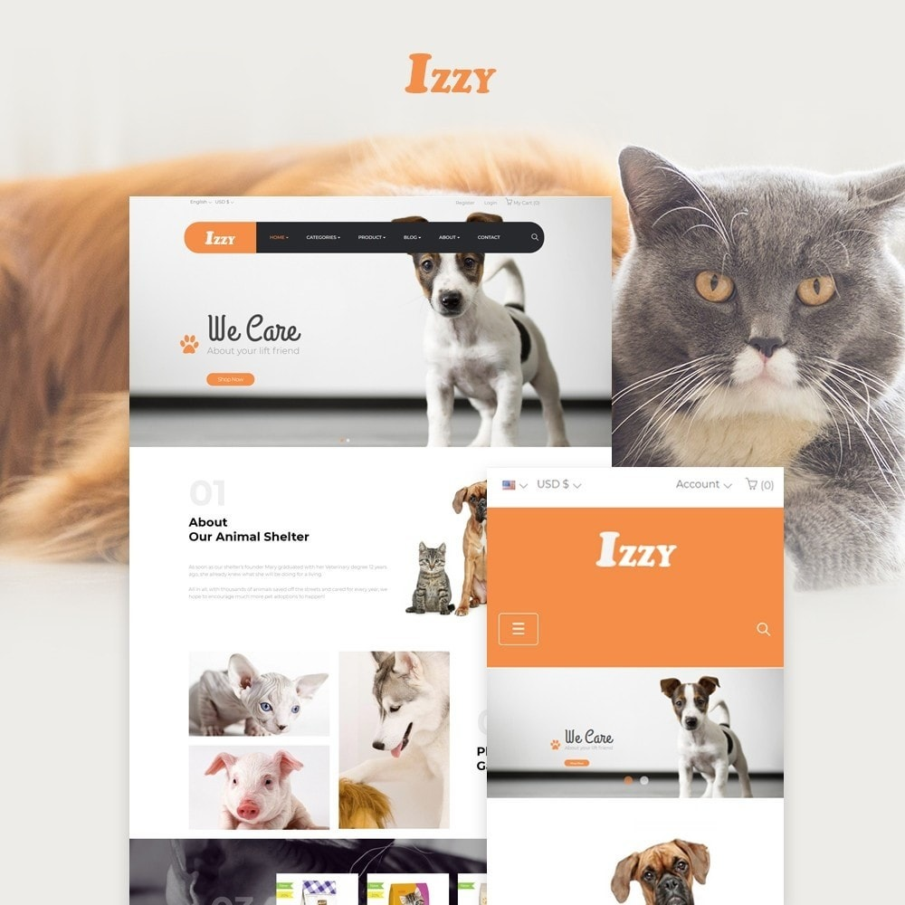 theme - Animali - Bos Izzy Pet Shop & Veterinary Clinic - 1