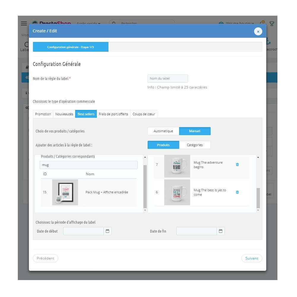 module - Etiquettes & Logos - Labels et Stickers personnalisables - 6