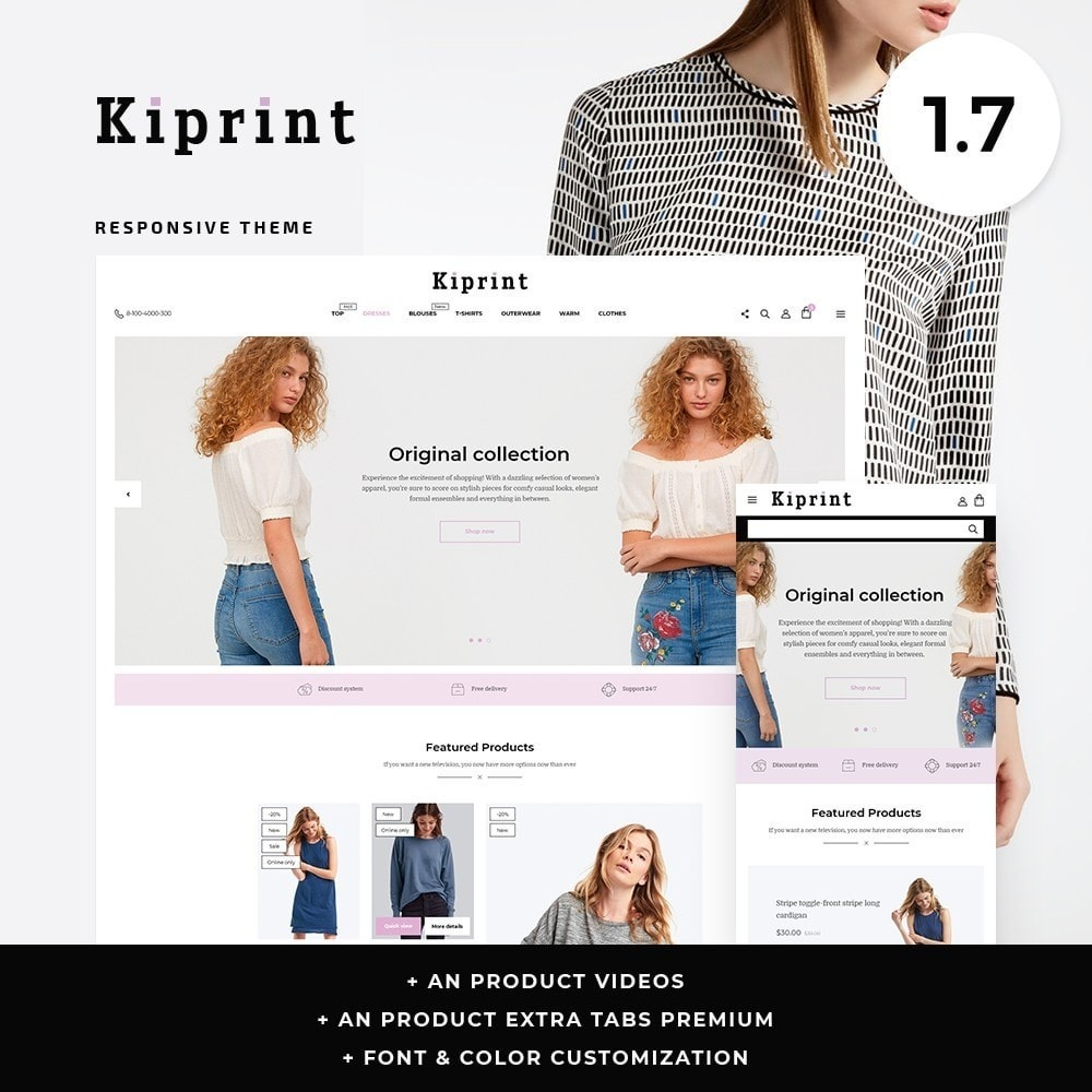 theme - Fashion & Shoes - Kiprint Fashion Store - 1