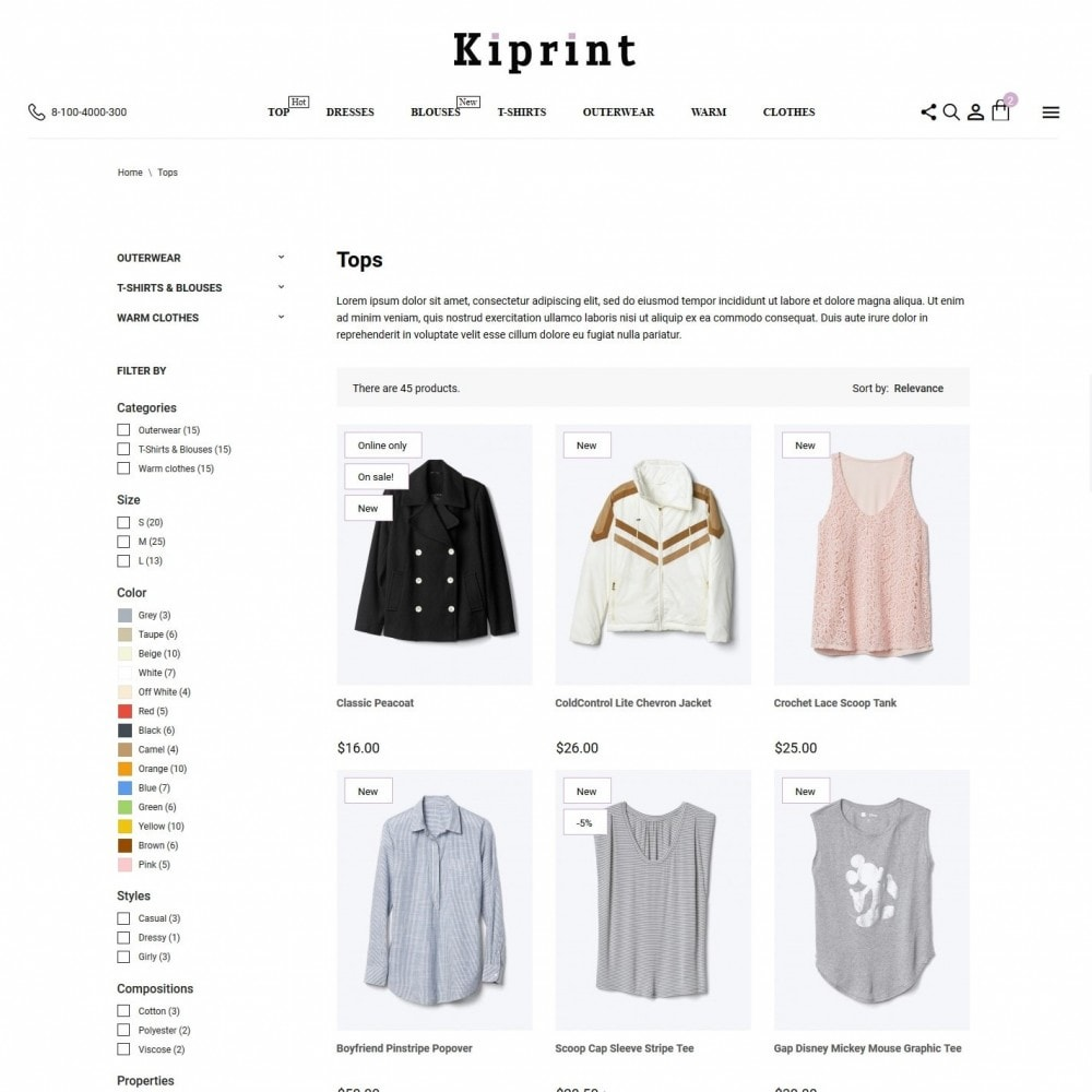 theme - Fashion & Shoes - Kiprint Fashion Store - 5