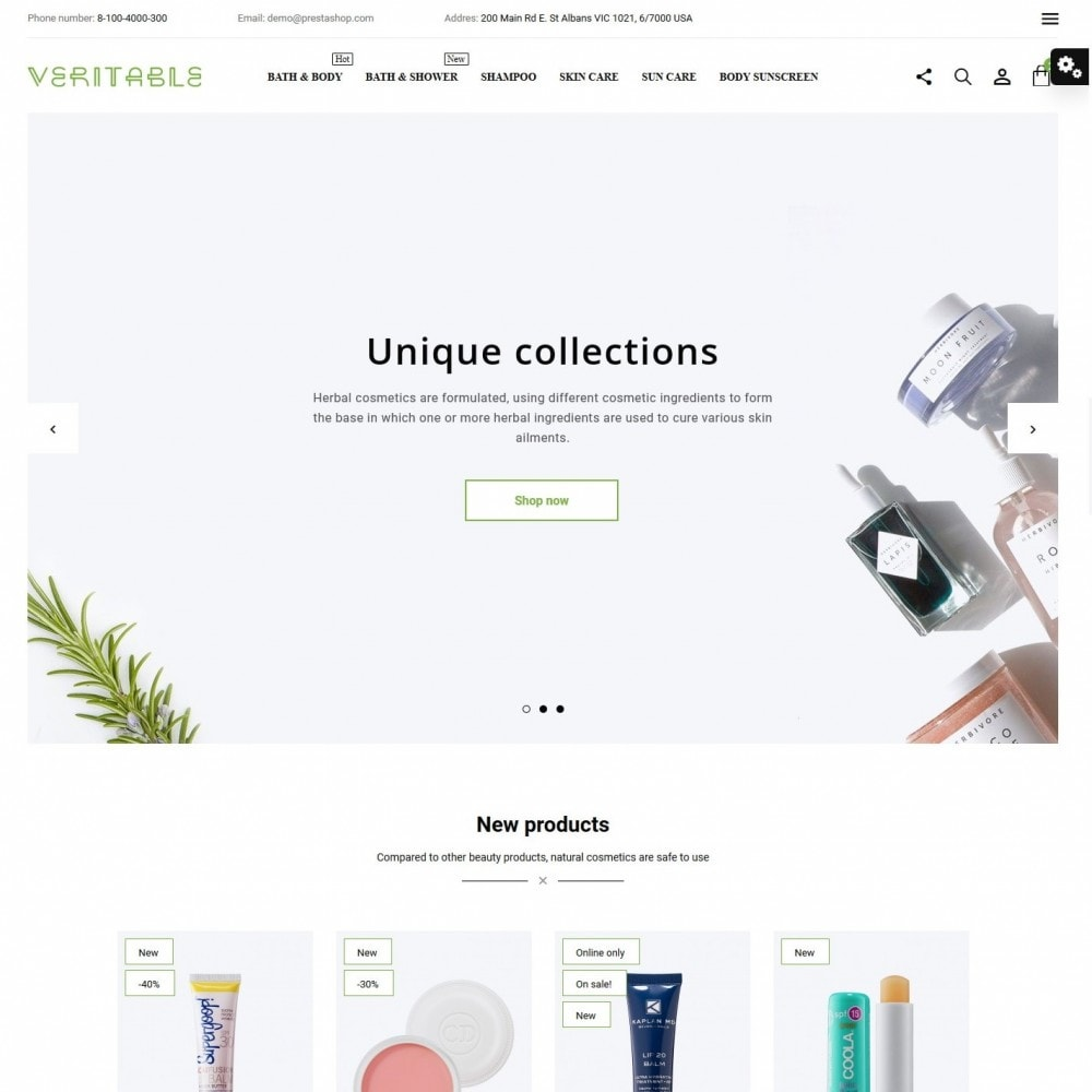 theme - Health & Beauty - Veritable Cosmetics - 2
