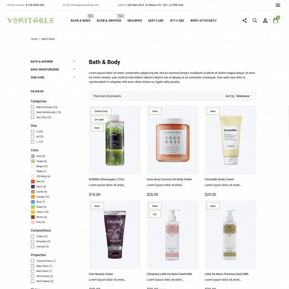theme - Health & Beauty - Veritable Cosmetics - 5