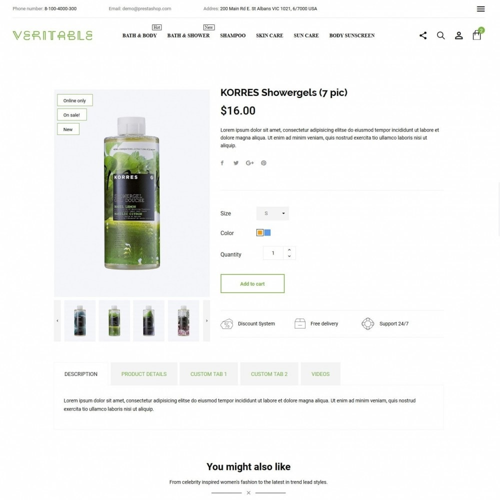 theme - Health & Beauty - Veritable Cosmetics - 6