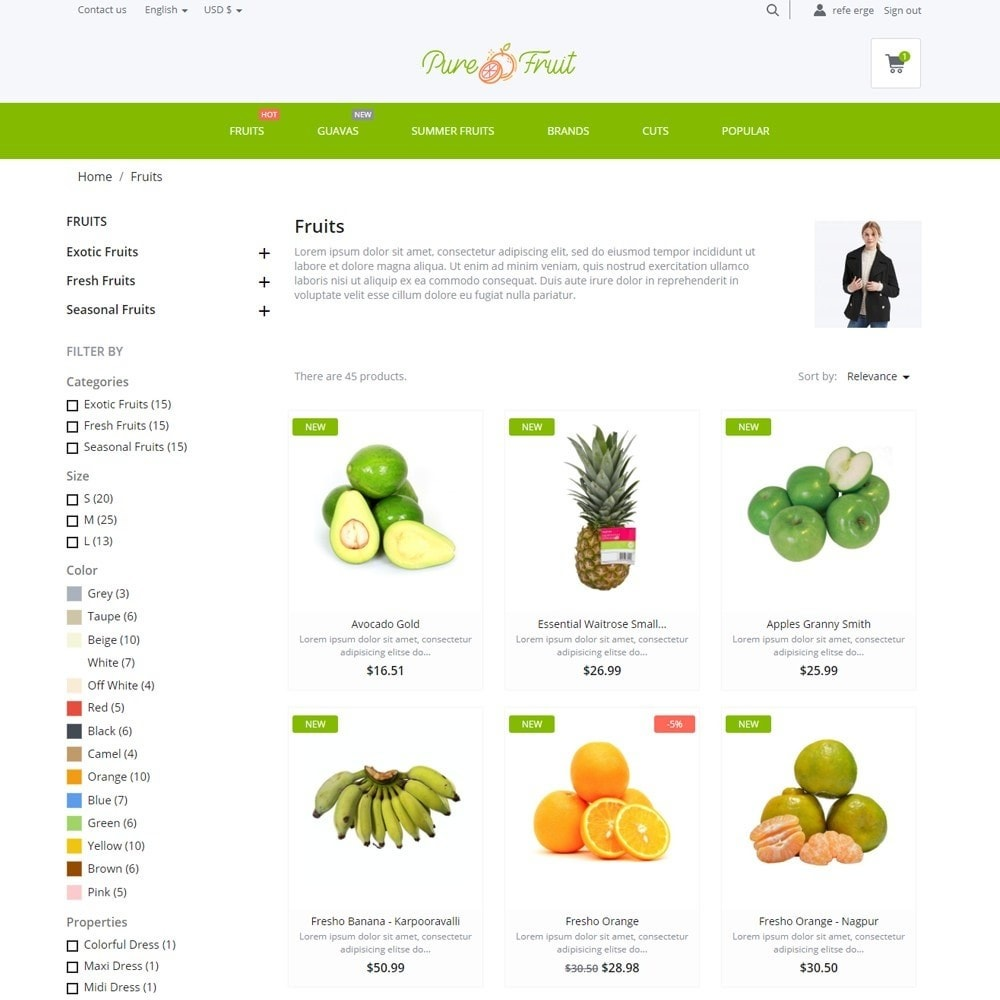theme - Cibo & Ristorazione - Pure Fruit - 5
