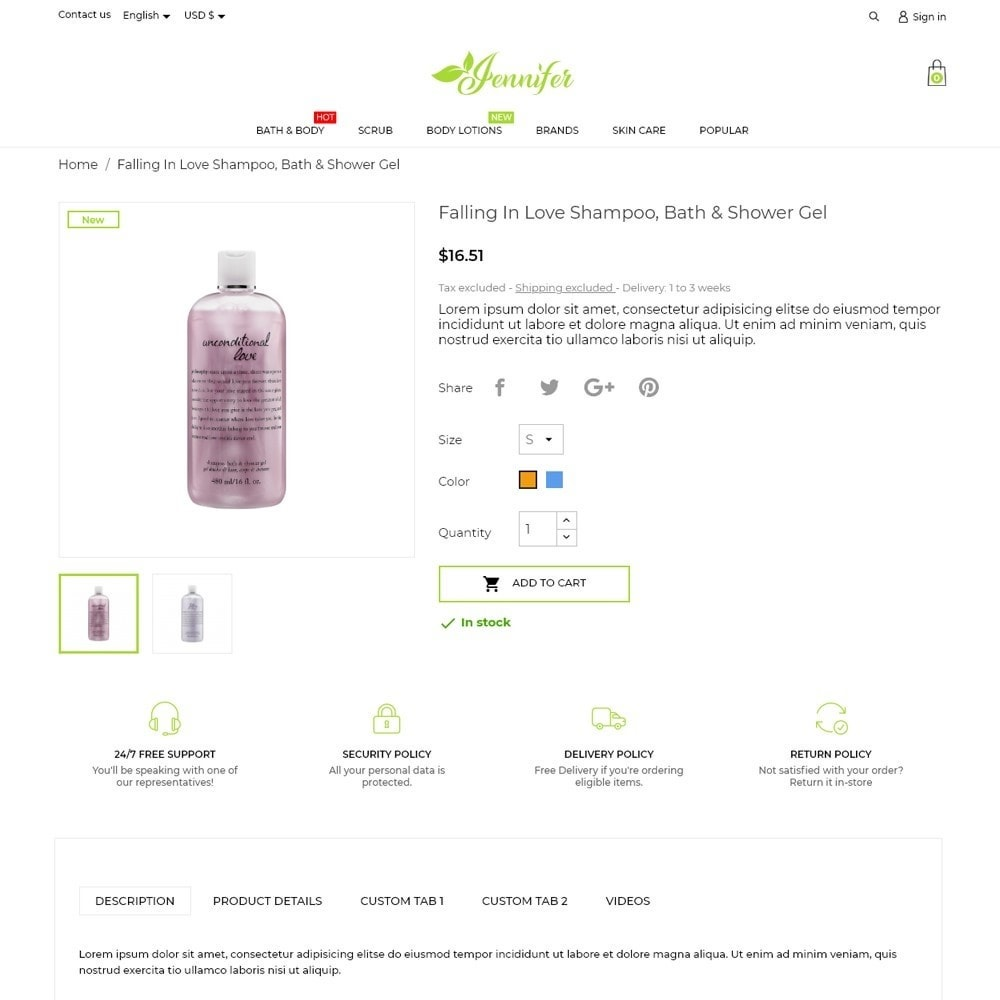 theme - Health & Beauty - Jennifer Cosmetics - 5