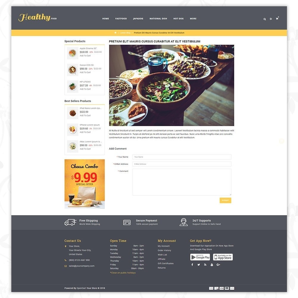 theme - Alimentation & Restauration - Food store - 8