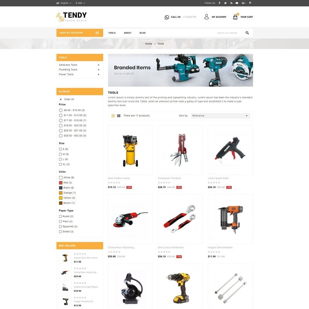 theme - Auto & Moto - Tendy Tools Store - 3