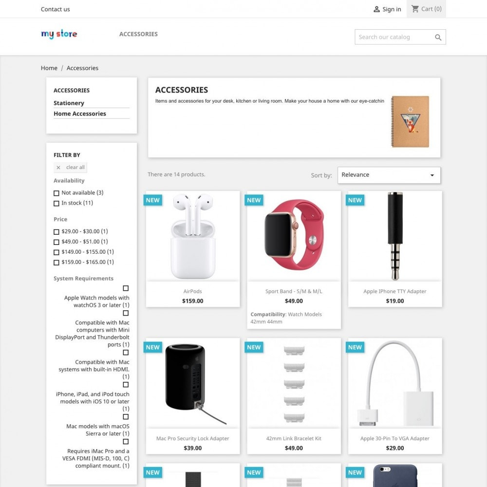 module - Search & Filters - Product Features List - 1