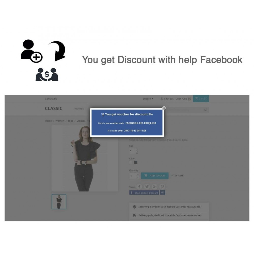 module - Social Network Coupon - Social Referrals + Social Connect - 20