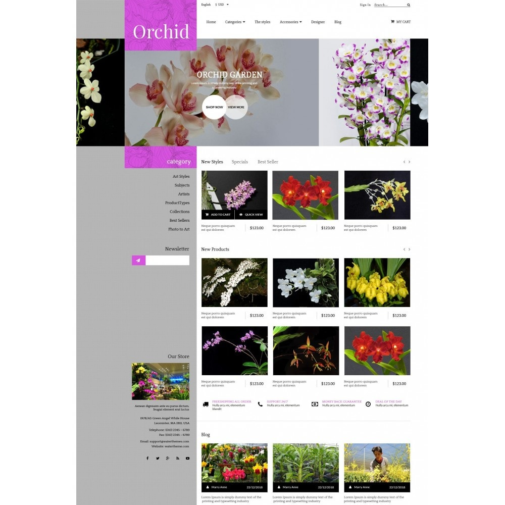 theme - Gifts, Flowers & Celebrations - Orchid Flower Store - 2
