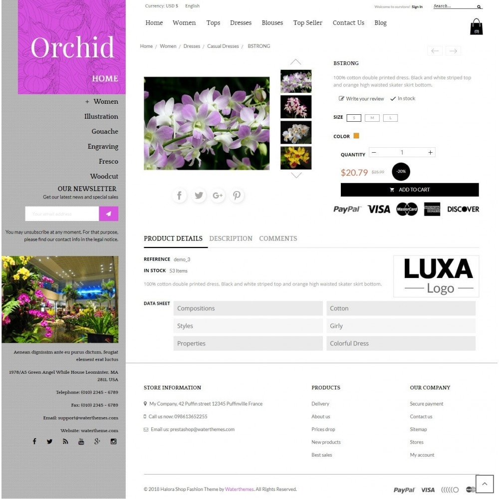 theme - Gifts, Flowers & Celebrations - Orchid Flower Store - 4