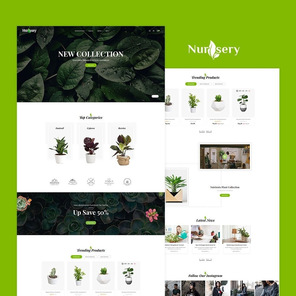 theme - Дом и сад - Nursery Plant & Green Gallery - 2