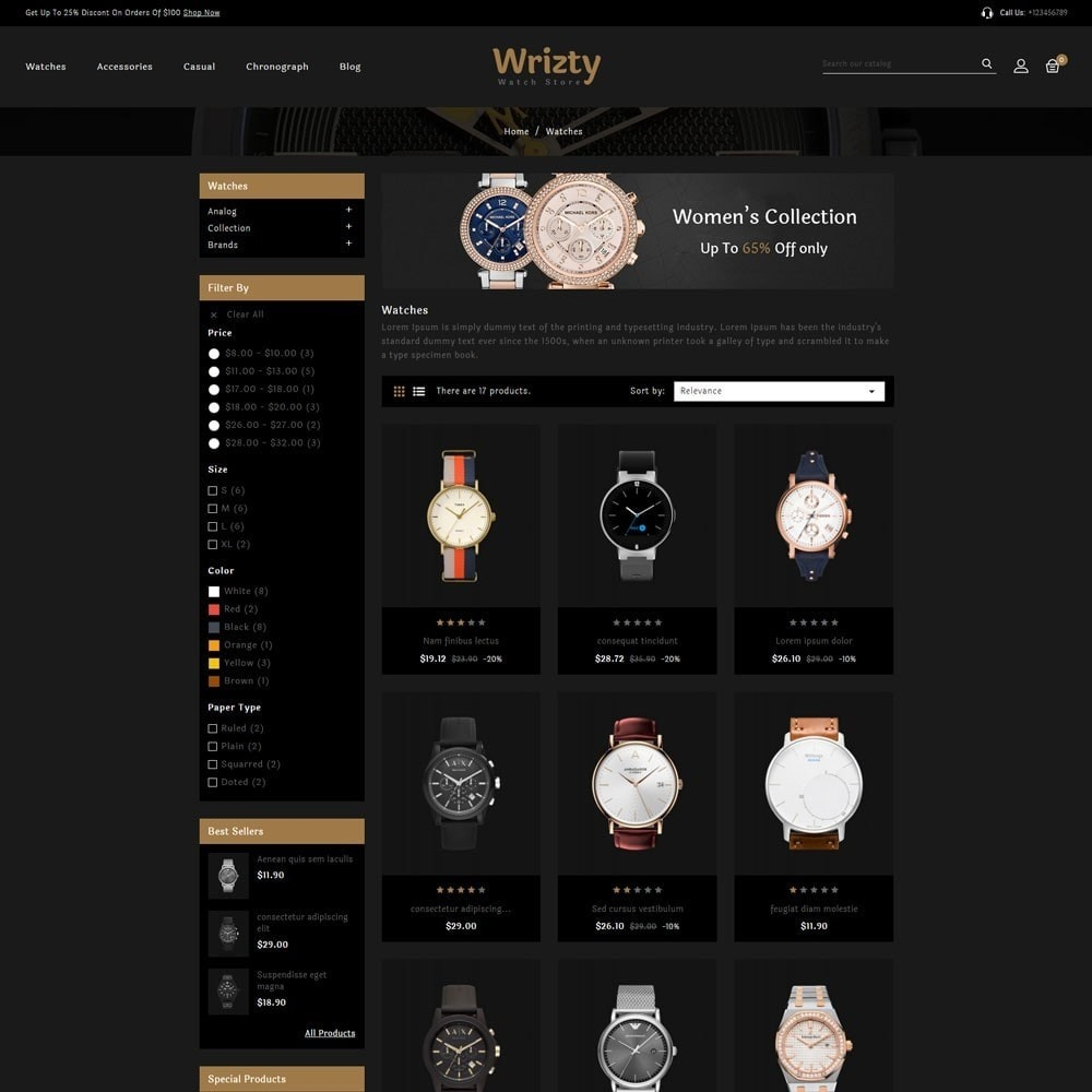 theme - Bellezza & Gioielli - Wrizty Watch Store - 3