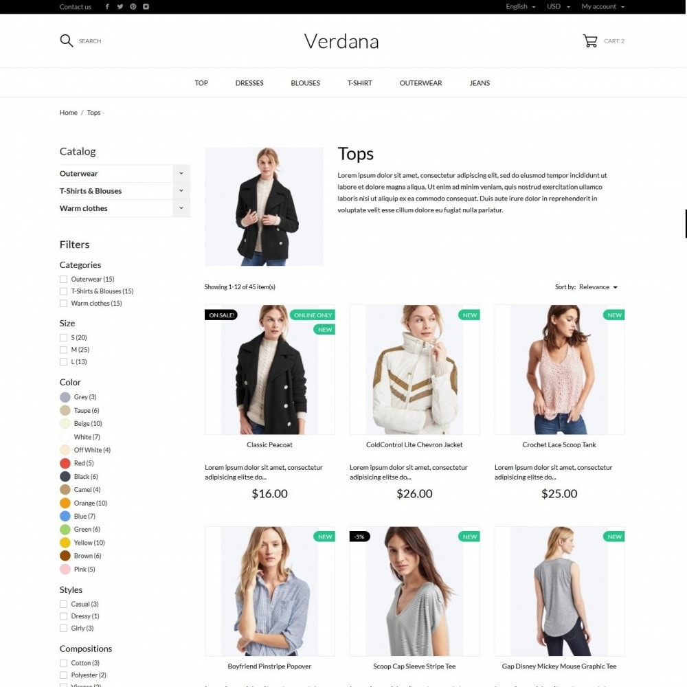 theme - Fashion & Shoes - Verdana Fashion Store - 10