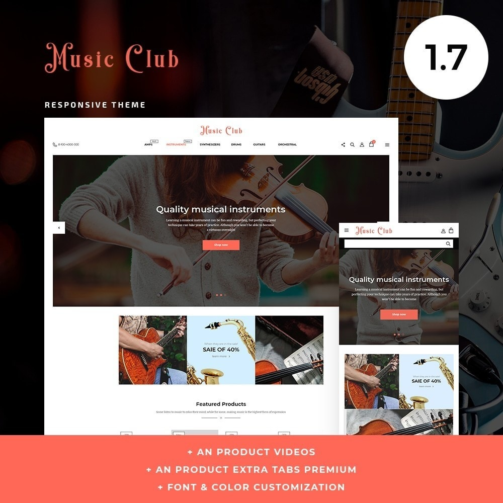 theme - Art & Culture - Music Club - 1