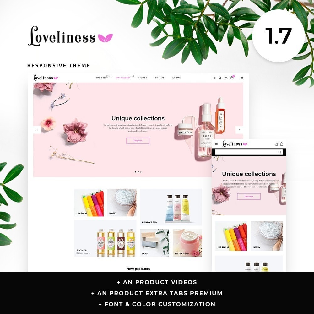 theme - Health & Beauty - Loveliness Cosmetics - 1