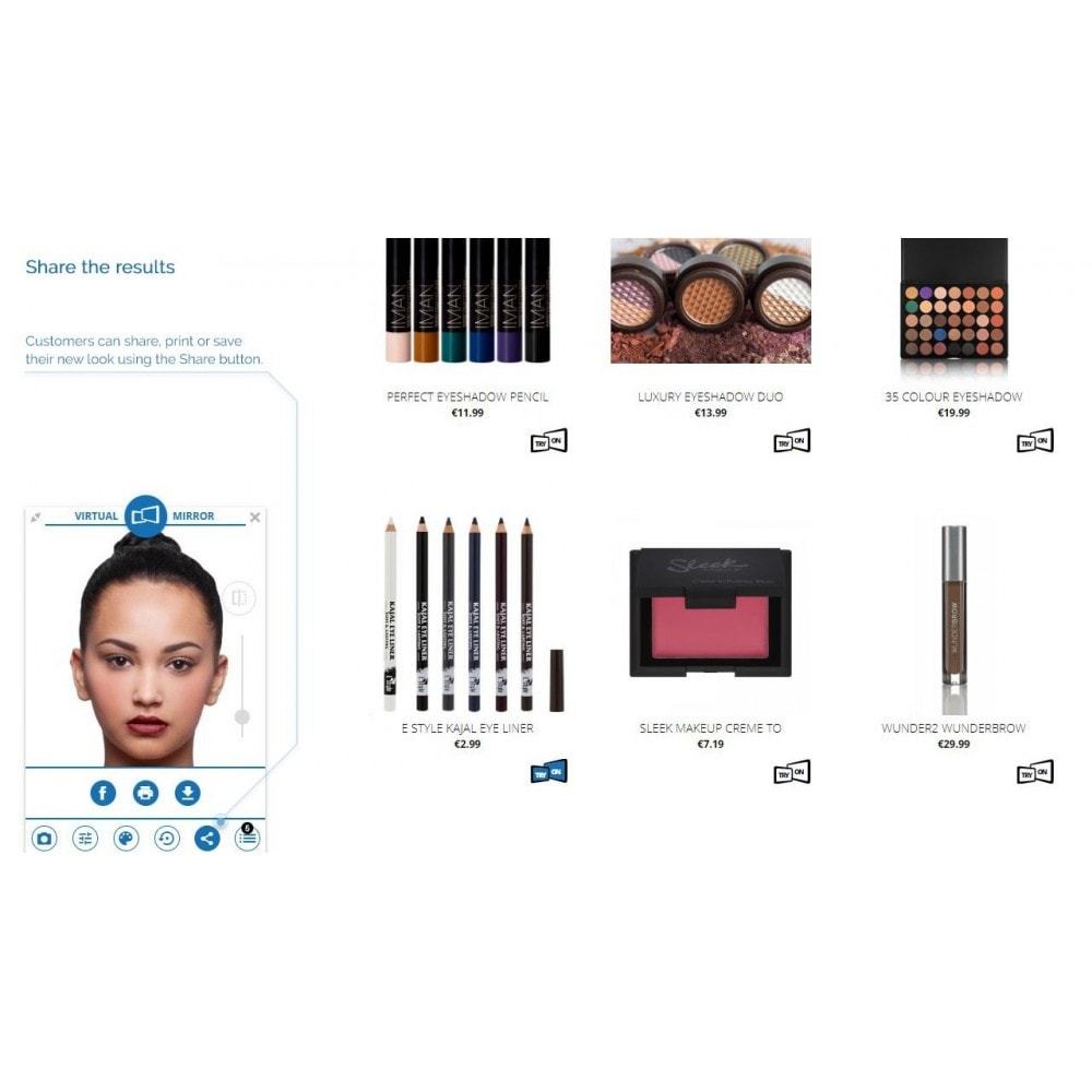 module - Prodotti Digitali - Magic Mirror: Makeup, Optics & Fashion - 4