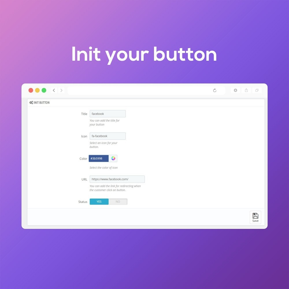 module - Widgets réseaux sociaux - Social Media Buttons (Icons) - 5