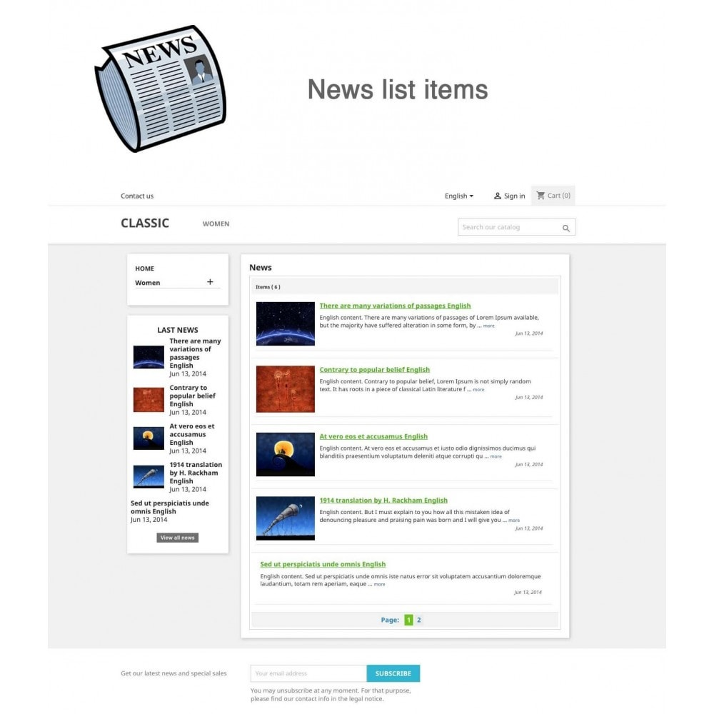 module - Blog, Forum & News - News simple + - 1