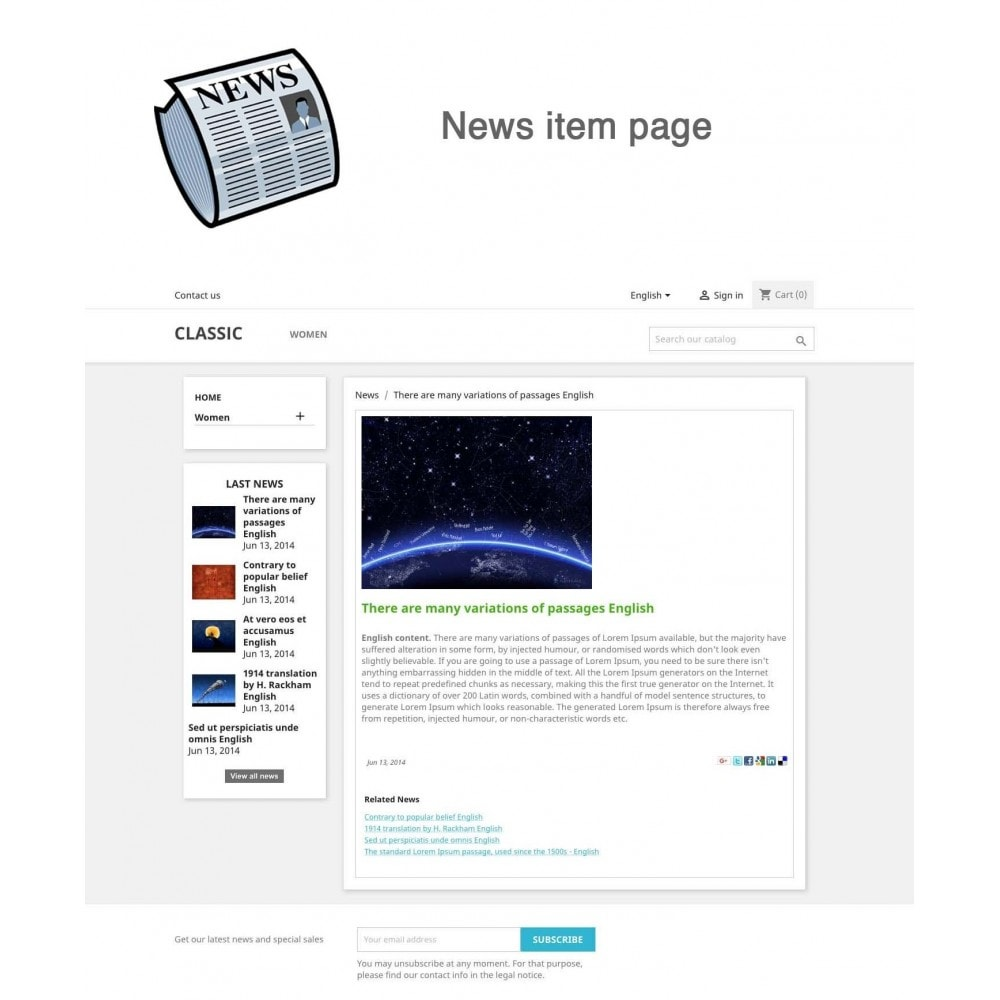 module - Blog, Forum & News - News simple + - 2