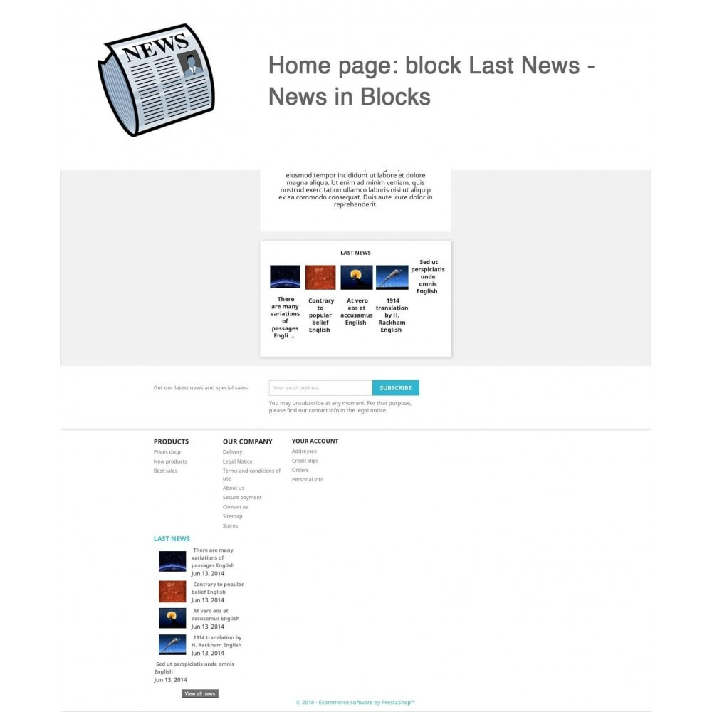 module - Blog, Forum & News - News simple + - 6
