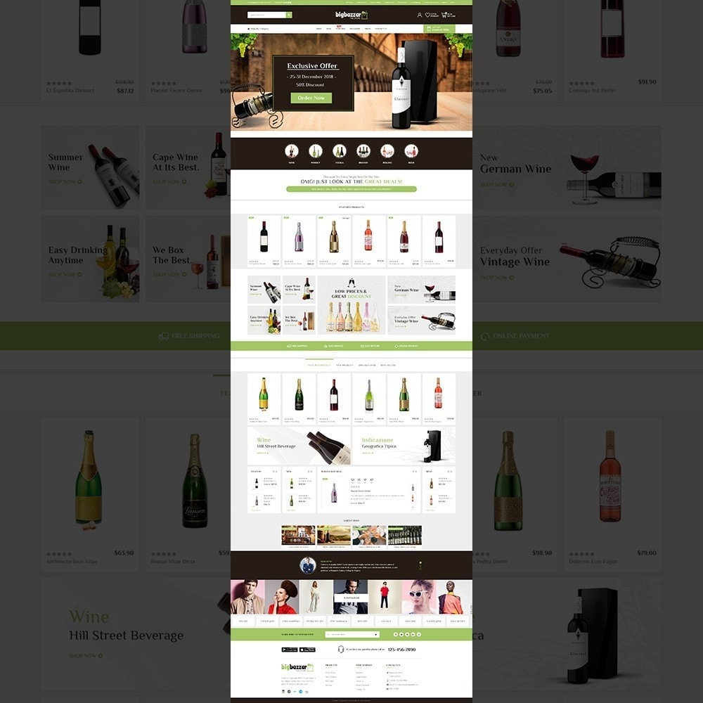 theme - Drink & Tobacco - Bigbazzar wine– Multipurpose Mega Wine Store - 11