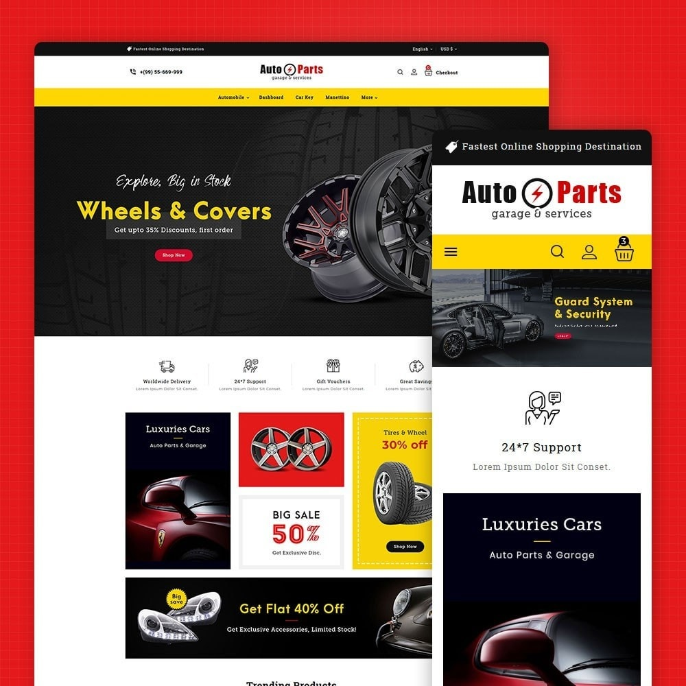 theme - Automotive & Cars - Auto Parts - 1