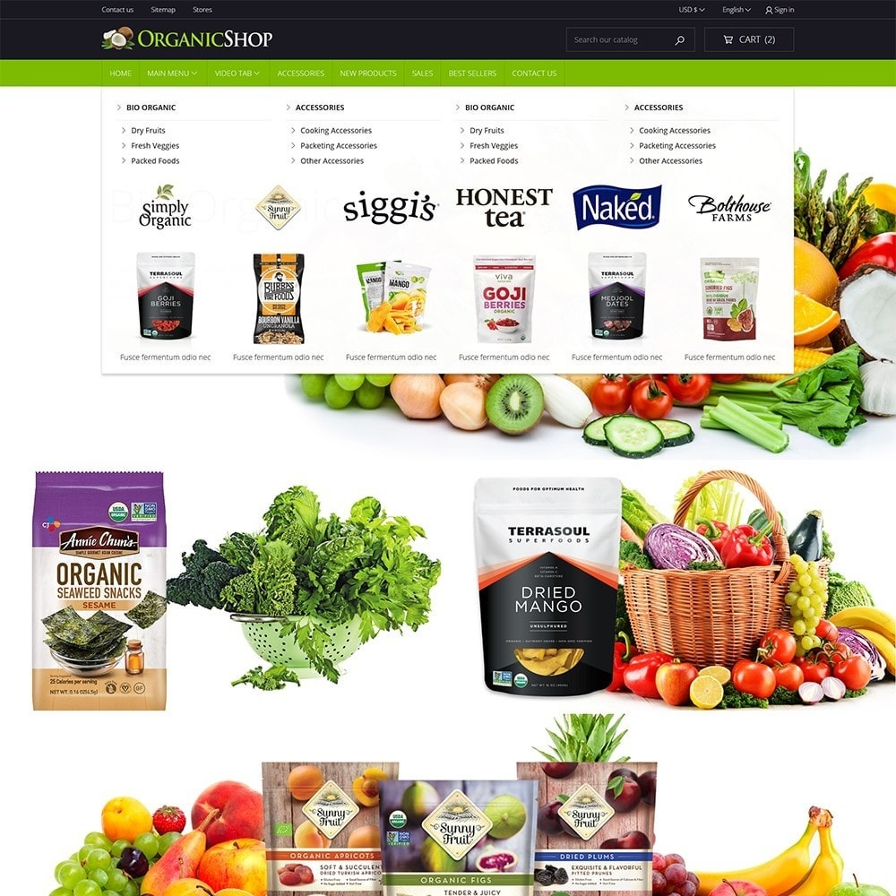 theme - Alimentation & Restauration - OrganicShop - 3