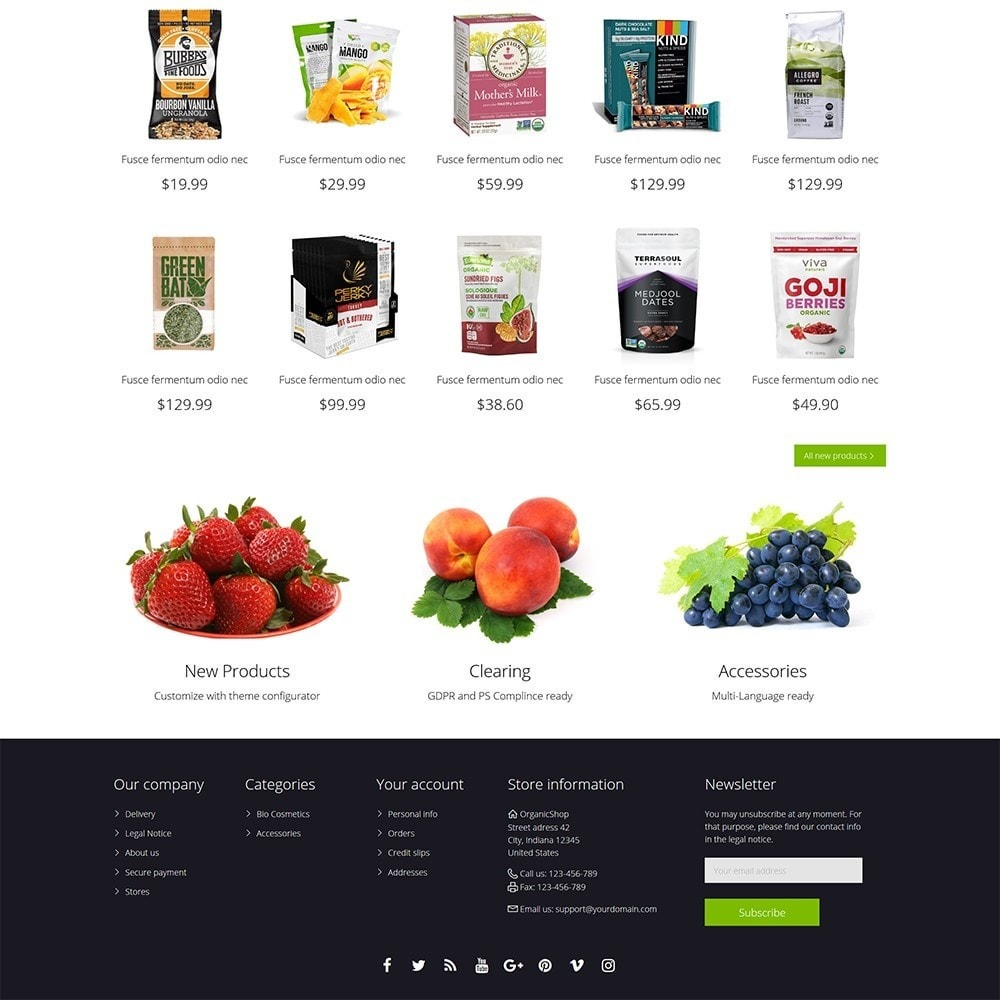 theme - Alimentation & Restauration - OrganicShop - 5