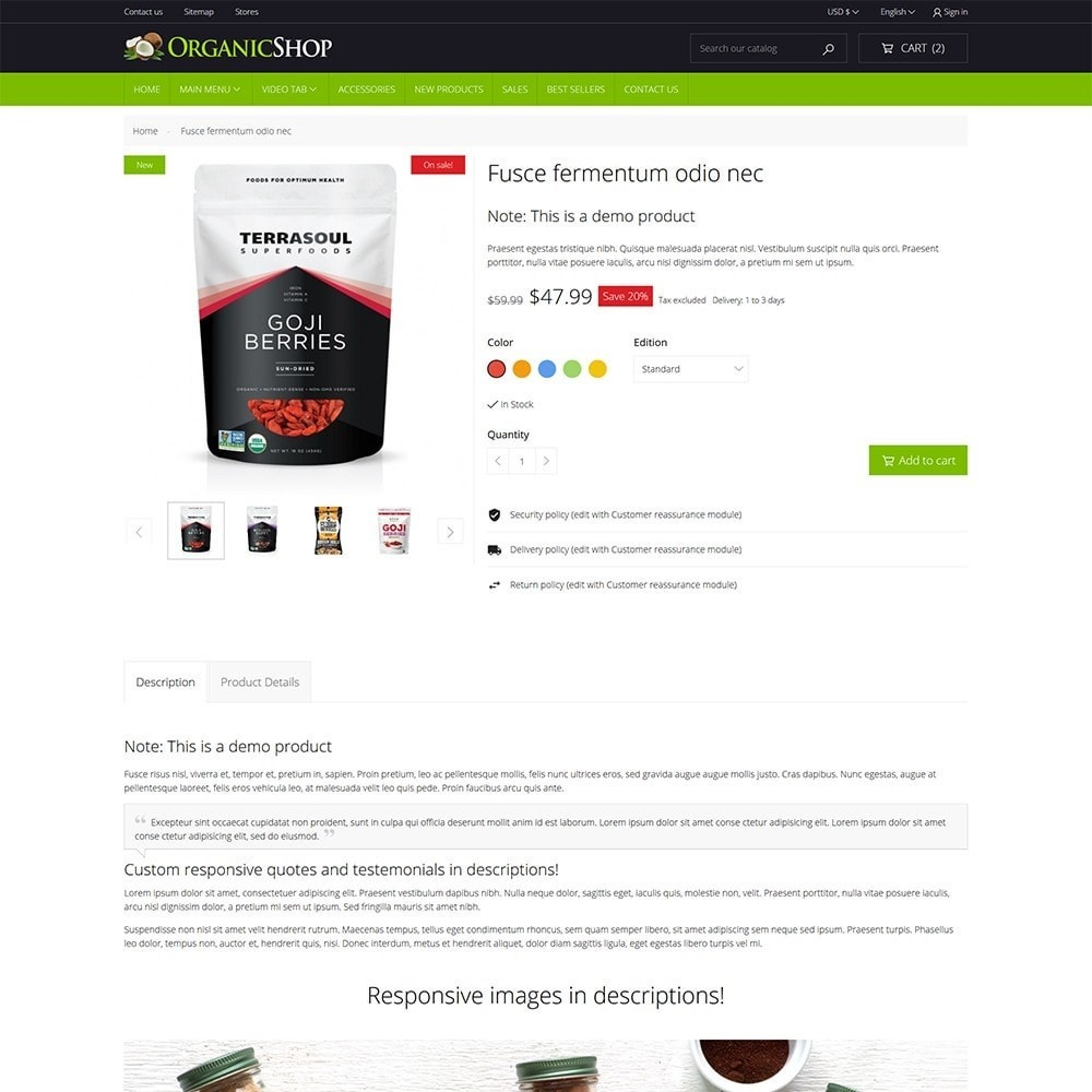 theme - Alimentation & Restauration - OrganicShop - 7