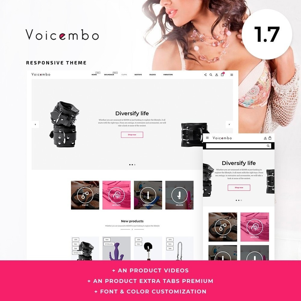 theme - Lingerie & Adultos - Voicembo - Sex Shop - 1