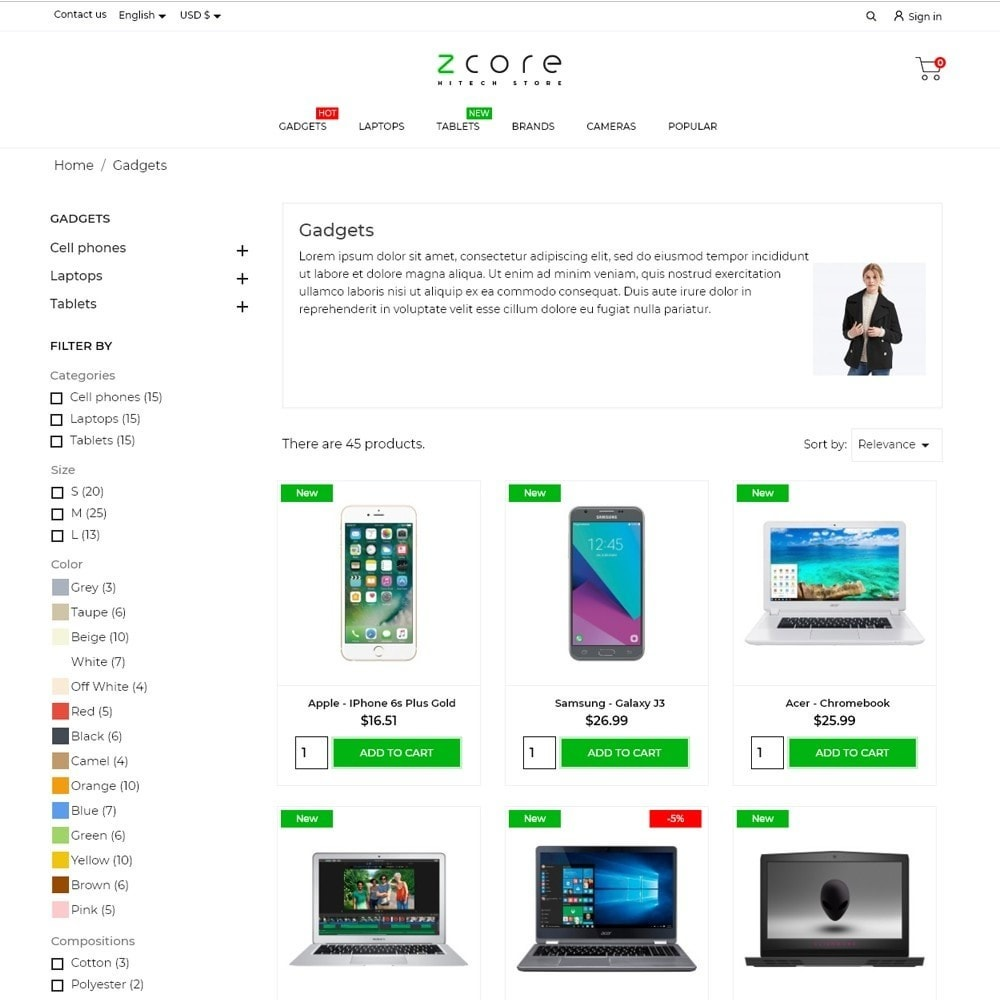 theme - Electronics & Computers - zCore - High-tech Shop - 6