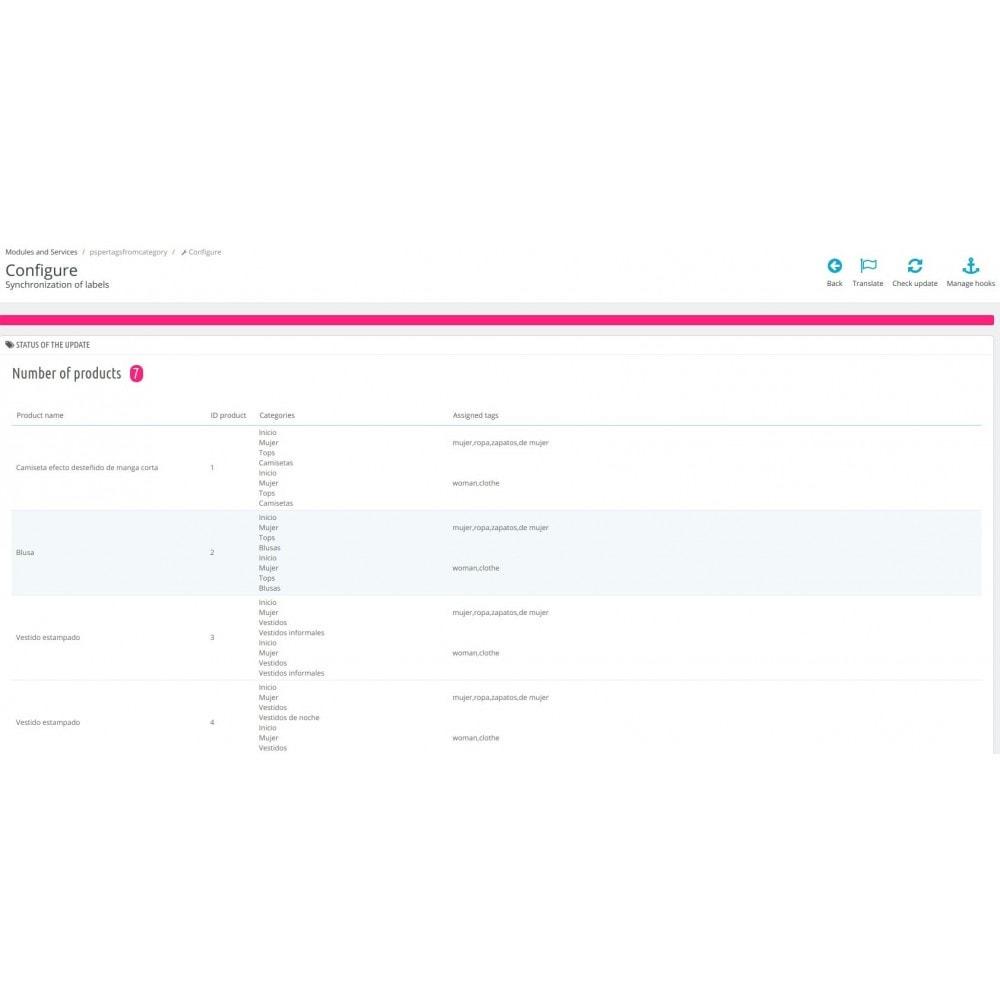 module - Szybkie & Masowe edytowanie - Get tags from categories - 2