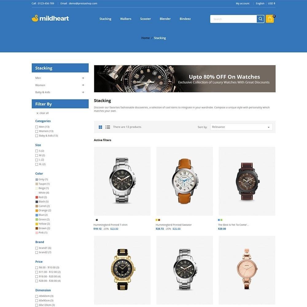 theme - Fashion & Shoes - Mildheart Watch  - Luxury Store - 3