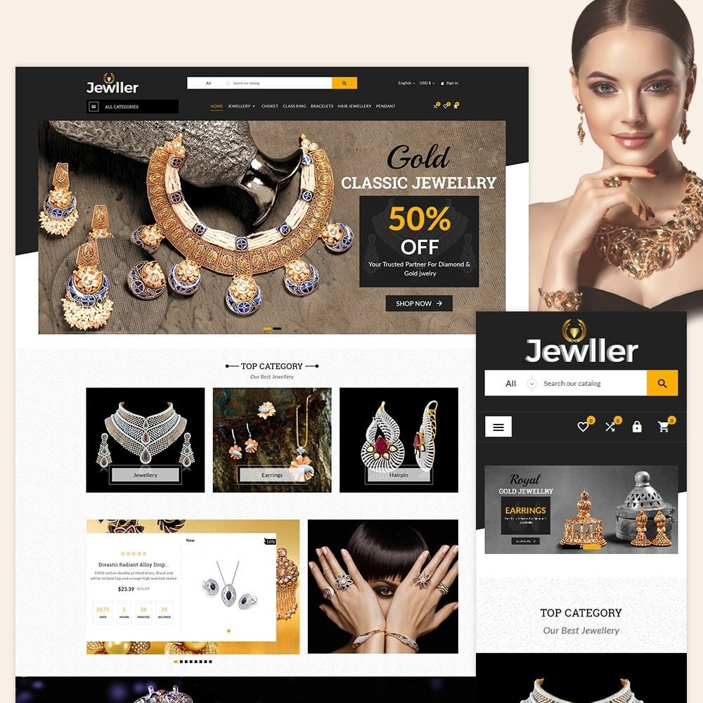 theme - Jewelry & Accessories - Jeweller Jewelry and Accessories  Super Store - 2