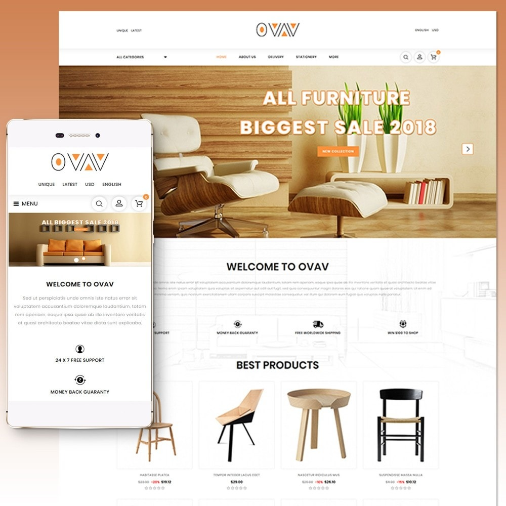 theme - Home & Garden - Ovav Furniture Store - 1