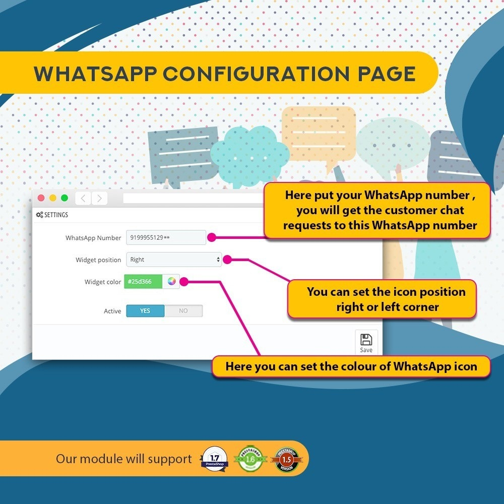module - Support & Online Chat - Whatsapp and Facebook Messenger Chat Pro - 3