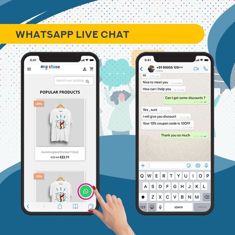 module - Support & Online Chat - Whatsapp and Facebook Messenger Chat Pro - 4